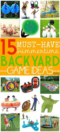 15 Must-Have Summertime Backyard Game Ideas on Frugal Coupon Living.