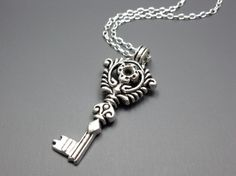 Hey, I found this really awesome Etsy listing at https://www.etsy.com/listing/72711479/skeleton-key-necklace-stainless-steel