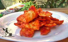 Ceci e Tria in rosso pasta fritta - Non solo le torte di Anna