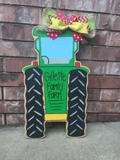 Lovely Tractor Door Hanger Farm Door Hanger By CrazyArtTeacherLady