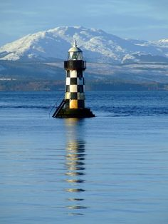 PERCH Lighthouse,In the River Clyde, off Coronation park, Port Glasgow.Scotland