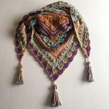 Ravelry: Lost in Time pattern by Johanna Lindahl - Crochet Pattern - Shawl Poncho Crochet, Crochet Prayer Shawls, Pull Crochet, Crochet Shawls And Wraps, Crochet Scarves, Crochet Clothes, Crochet Stitches, Crochet Hats, Crocheted Scarf