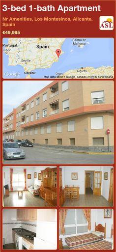 3-bed 1-bath Apartment in Nr Amenities, Los Montesinos, Alicante, Spain ►€49,995 #PropertyForSaleInSpain