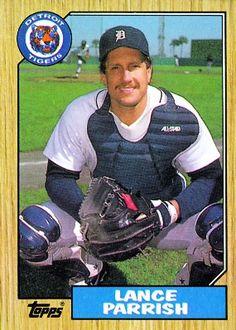 Lance Parrish 1987 Catcher - Detroit Tigers  Card Number: 791