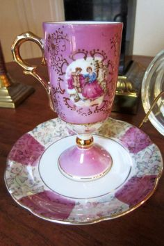 Inarco Demitasse Cup and Saucer by practicalelegance on Etsy, $10.00
