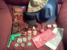 A bag and all the stuff shown. Dress up for boys. Dress Up For Boys, Baby Blog, Best Cosplay, Dollar Tree, Spy, Diy Christmas, Gift Ideas, Halloween, Create