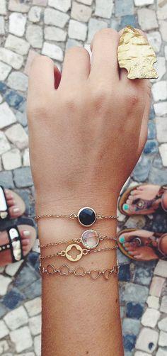 Four Leaf Clover Bracelet - Minimalist Jewelry