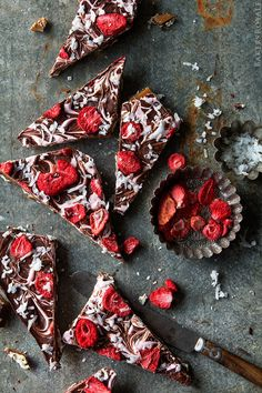 Chocolate Caramel Matzo Bark with Strawberries and Coconut | Bakers Royale