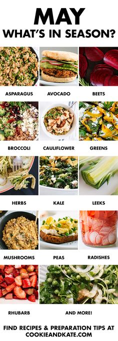 May Produce Guide - Cookie and Kate Eat seasonally with this guide to May fruits and vegetables. Find recipes and preparation tips at Eat seasonally with this guide to May fruits and vegetables. Find recipes and preparation tips at Pavlova, Memorial Day, Smoothies, Clean Eating, Healthy Eating, Healthy Food, Stay Healthy, Whats In Season, Eat Seasonal