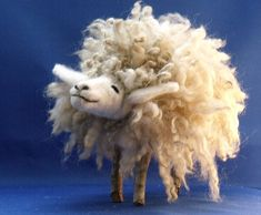Fleece Navidad Large Felted Sheep by Wellby on Etsy, $65.00