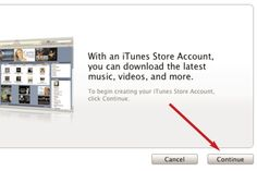 10 Easy Steps to a Free iTunes Account (No Credit Card Required): Continue on from the Welcome window.