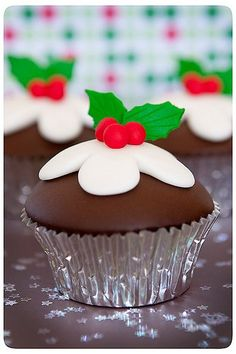 Mini Christmas cakes CHRISTMAS PUDDING CUPCAKES