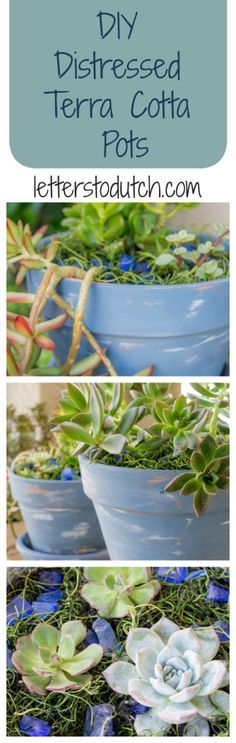 Give your average terra cotta pot an aged makeover in 4 simple steps!