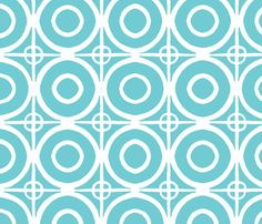 Circles and Squares fabric by Colleen Kidder ((ElizaGraysGoods) on Spoonflower - custom fabric