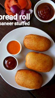 bread roll recipe, stuffed bread roll, bread potato rolls with step by step photo/video. deep fried snack dish with left over bread slices & potato stuffing Paratha Recipes, Paneer Recipes, Spicy Recipes, Cooking Recipes, Tandoori Masala, Snacks Dishes, Chaat Recipe, Indian Dessert Recipes, Roll Recipe