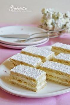 Hófehérke - az egyik legfinomabb omlós, krémes sütemény