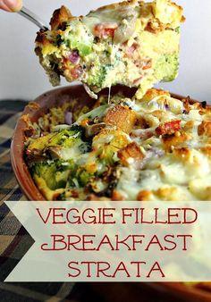 How to Make Veggie Filled Breakfast Strata Recipe