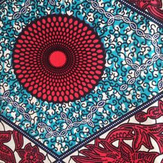 A personal favourite from my Etsy shop https://www.etsy.com/uk/listing/244505804/red-and-blue-african-fabric-wax-print