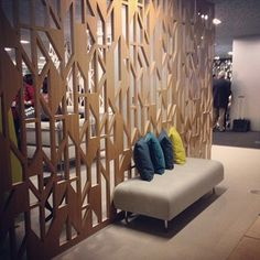 #neocon2013 the wall, colors of the pillows