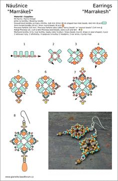 """Marrakesh"" earrings Pattern design for Preciosa Ornela"