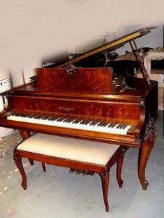 William Knabe Flame Mahogany Louis XV Baby Grand Piano