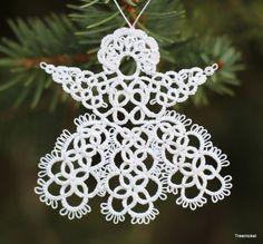 Angel Christmas Ornament~ Lace Tatting~