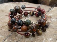 Looking Glass Jewellery - Original, beautiful handmade jewellery - Bracelets  Iron Butterfly memory wire bracelet  £10