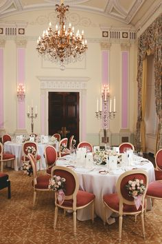 An elegant wedding reception in The Music Room at The Ritz London.