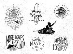 Dribbble - More Waves t-shirt concepts by Oban Jones
