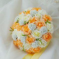 bruids bloem romantische bruiloft bruid boeket roos bloem boeket van de bruid (meer kleuren) – EUR € 26.59