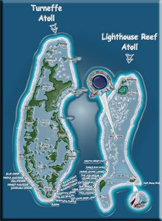 Turneffe and Lighthouse Reef Atoll Map