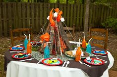 Camping Out Birthday Party | camp out spend the night next to a roaring campfire under a blanket of ...