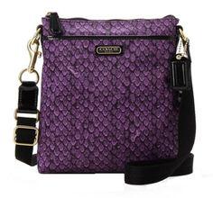 Coach Taylor Snake Print Swingpack Crossbody Purse 50065 Purple $75.72 (49% OFF)  #Coach