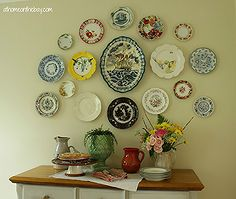 how to hang a plate gallery, home decor
