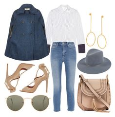 """""""Untitled #1477"""" by victoriaxo97 ❤ liked on Polyvore featuring J.W. Anderson, M.i.h Jeans, Chloé, Aquazzura, Ray-Ban, Janessa Leone and STELLA McCARTNEY"""
