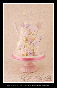 Sugar and Spice and All Things Nice Cake (mini version!) - by littlecherry @ CakesDecor.com - cake decorating website