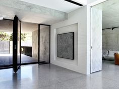 Minimalist black, white + grey entryway // McKimm Builders