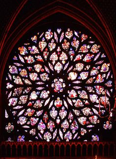 The rose window from Sainte-Chapelle, 15th c.