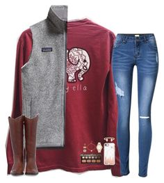 """hold for the applause"" by hailstails ❤ liked on Polyvore featuring Patagonia, Frye, Casetify, Kendra Phillip, Bare Escentuals, Chico's and Kendra Scott"