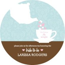 Cup of Hearts Tea Party Bridal Shower Invite