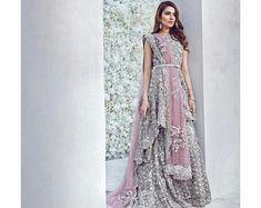 33a54e494d3 Pakistani Wedding gown long maxi dress blush pink anarkali