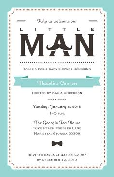 13 best baby shower invitations and birth announcements images on little man baby announcement vistaprint filmwisefo