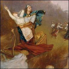 Kyllikin ryöstö, runo 11-12 kalevala kuvataide Kyllikki - Google-haku Haku, Mythology, Google, Painting, Painting Art, Paintings, Painted Canvas, Drawings