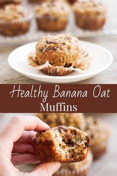 Banana muffins made a little healthier using oats, whole-wheat flour, greek yogurt and honey! . #bananamuffins #healthymuffins #lovebaking #makeaheadbreakfast #healthybreakfast Oat Muffins Healthy, Oat Flour Muffins, Freeze Muffins, Banana Oat Muffins, Coconut Muffins, Healthy Muffin Recipes, Banana Oats, Healthy Baking, Baby Food Recipes