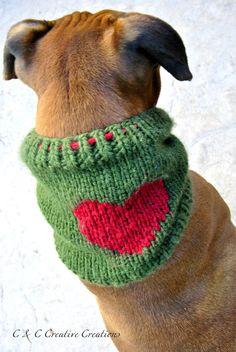 Herz Hund Snood von CCCreativeCreations auf Etsy