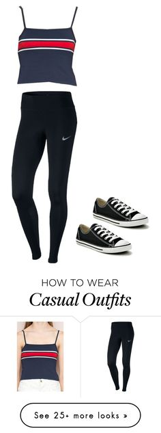 """Casual #1"" by patriciamarieg on Polyvore featuring NIKE and Converse"
