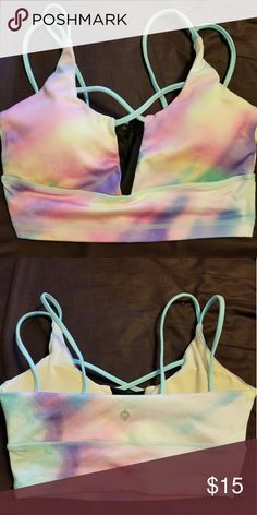 Popilates sports bra Sports bra from the POP pilates mermaid collection. Worn once. Reebok quality Accessories