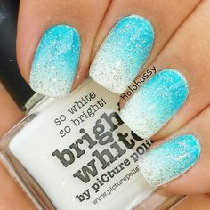 Picture Polish Bright White and Illamasqua Noble gradient topped with Different Dimensions Imitation Is The Sincerest Form Of Flattery
