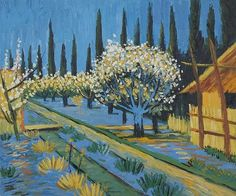vincent-van-gogh-orchard-in-blossom-bordered-by-cypresses.jpg (520×433)