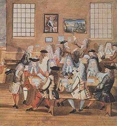 18th Century British coffee house